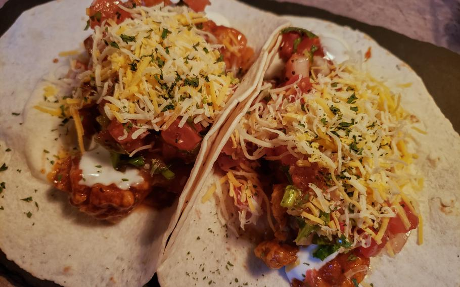 The Hot Chicken Tacos from Go Boogie Mexican Pub and Grill in Pyeongtaek, South Korea.