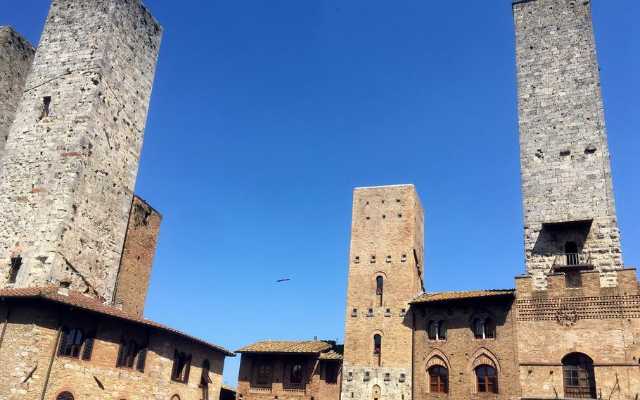 San Gimignano is one of the more popular villages in Tuscany for visitors. It's famous for its towers, which date to the 12th century, as well as the local Vernaccia wine.