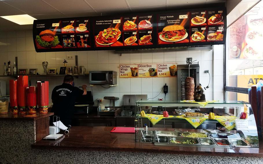 The inside of Anadolu Kebabhaus, in Grafenwoehr, Germany, Thursday, May 23, 2019.