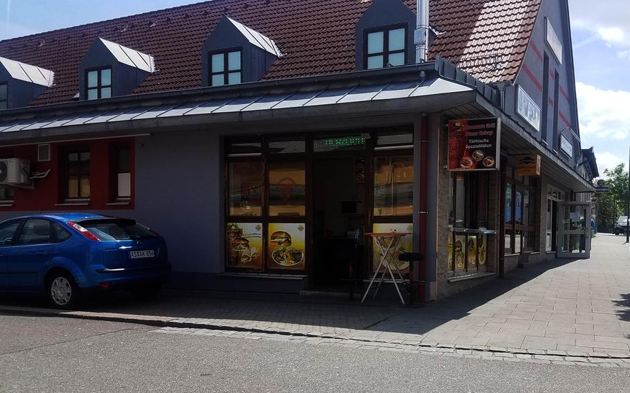 The outside of Marmaris Grill, in Grafenwoehr, Germany, Thursday, May 23, 2019.