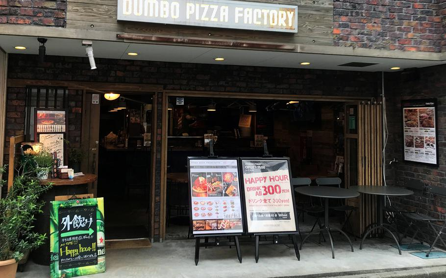 Dumbo Pizza Factory near Naval Air Facility Atsugi, Japan, has a open patio feel thanks to the sliding doors at the front of the restaurant.