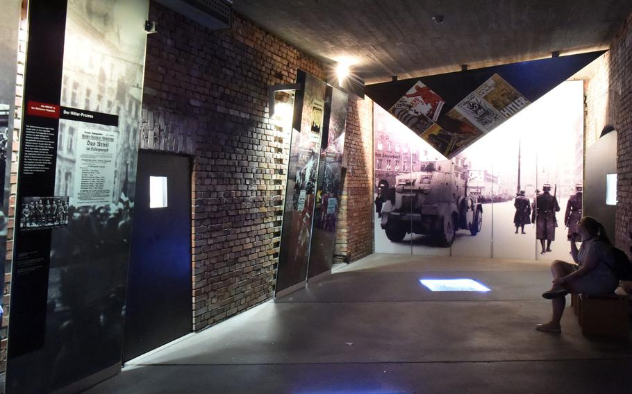 Inside the museum of the Documentation Center Nazi Party Rallying Grounds, with exhibits on the rise of the National Socialist Party, in Nuremberg, Germany.