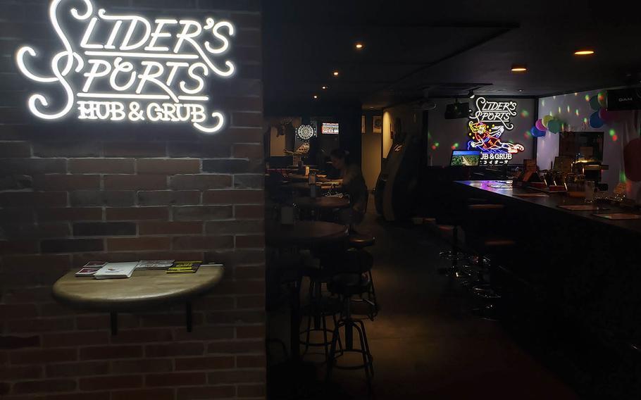 Slider's Sports Hub & Grub opened near Yokota Air Base, Japan, on July 4, 2019.