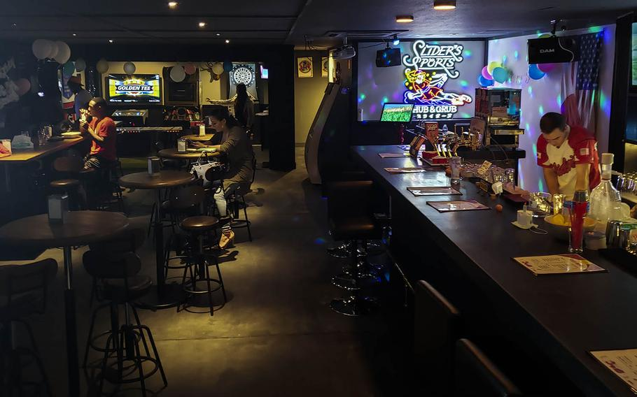 Slider's Sports Hub & Grub in western Tokyo might remind American patrons of Buffalo Wild Wings back in the States.