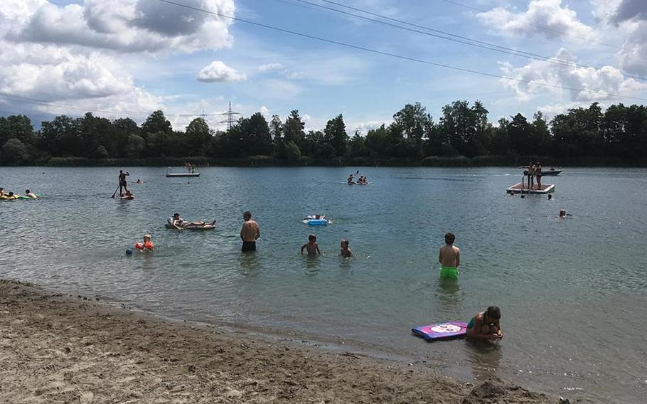 Heidesee, a lake in the town of Forst, is a nice, cool place to swim on hot summer days.