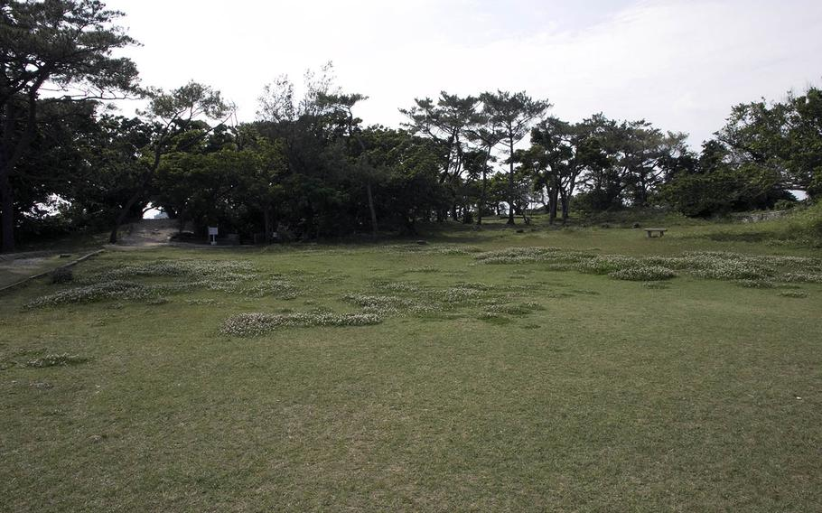 The Maeda Escarpment today, facing what was the Japanese position, as seen on April 4, 2019.