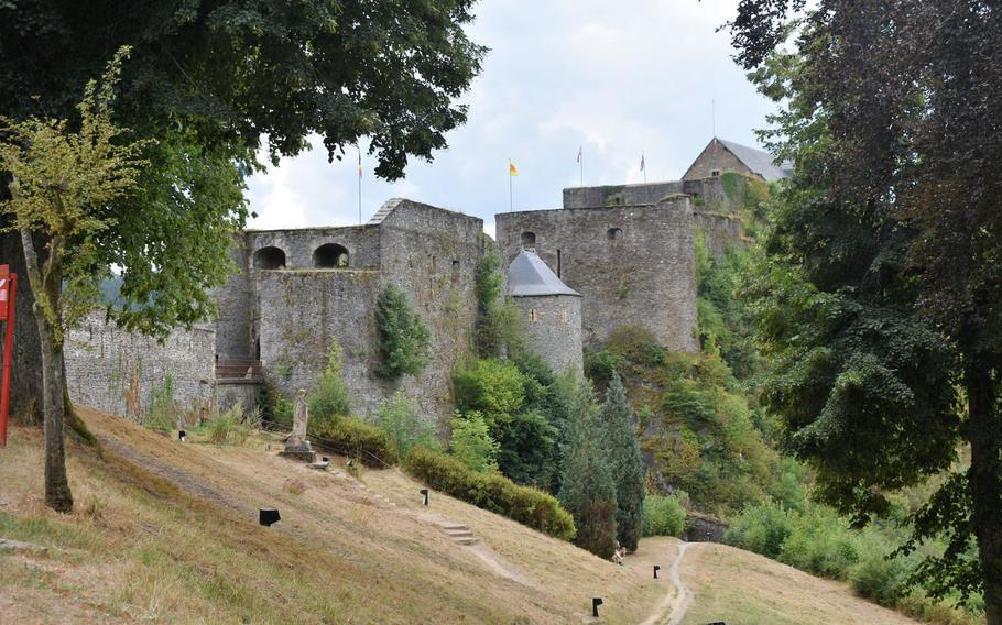 While the sight of Chateau de Bouillon looming above the river is the signature image of Bouillon, Belgium, a look at the castle from the opposite side also illustrates the sheer size of the structure.