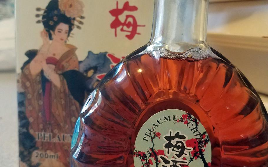 Plum wine from The Chinese in Grafenwoehr, Germany.