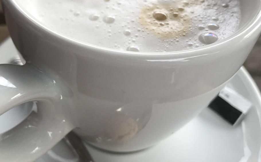 Storchenturm's standard cappuccino as served up in Kaiserslautern.