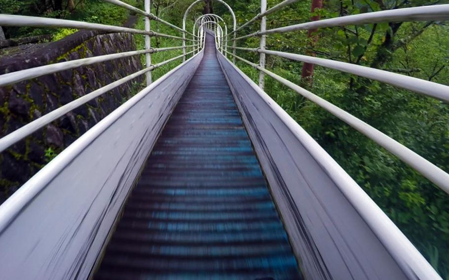 Japan's longest roller slide is 800 feet long from top to bottom.