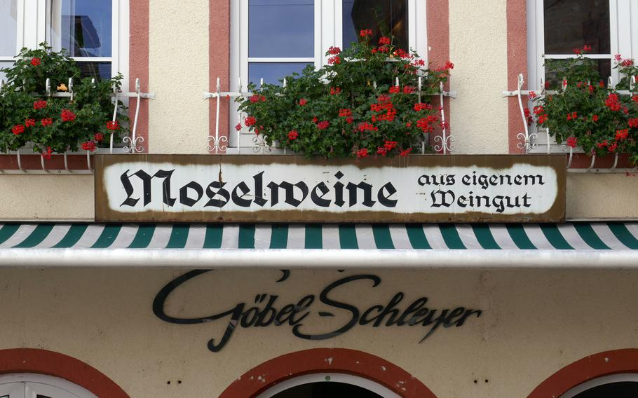 Cochem and Moselle River valley is know for its vineyards and the wine produced there. Many shops in town sell the local products.