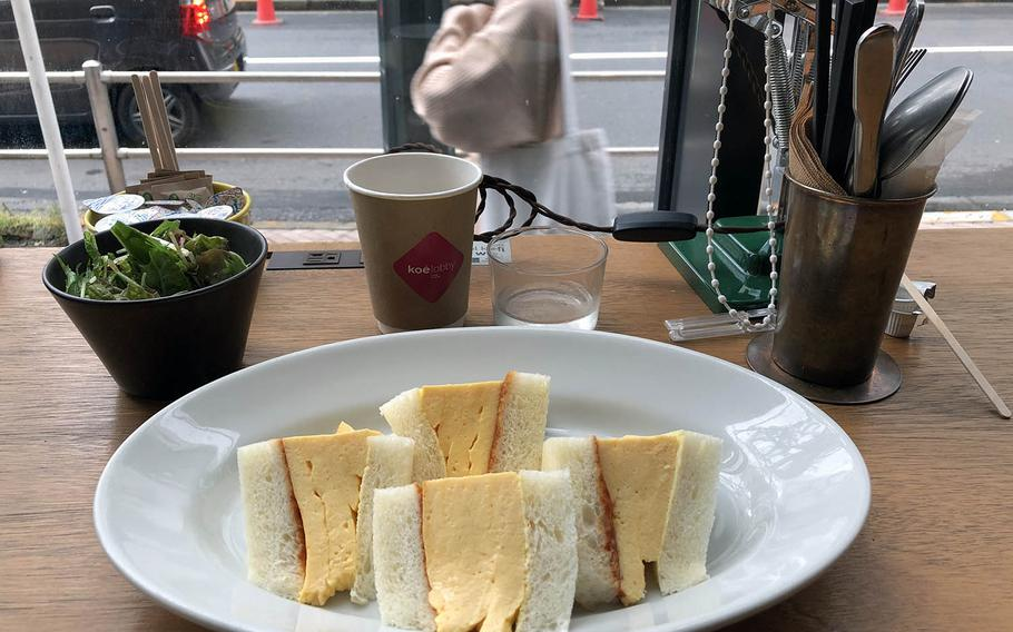 The lunch special at Hotel Koe in Tokyo's Shibuya district on a recent Saturday was a tasty egg sandwich.
