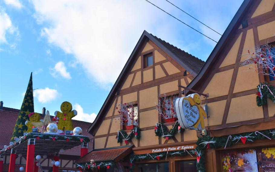 Le Palais du Pain d'Epices, a gingerbread factory, museum and gift shop in Gertwiller, France, details the history of the tasty holiday treat while offering delicious examples of the form.