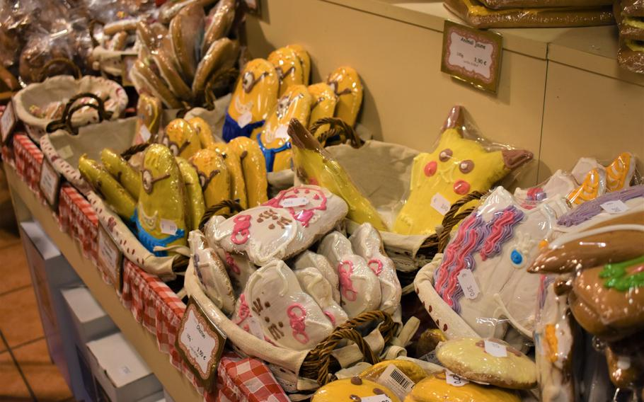 Visitors can skip the nominal fee at the adjacent gingerbread factory and apply those savings to the impressive array of gingerbread treats in the gift shop at Le Palais du Pain d'Epices in Gertwiller, France.