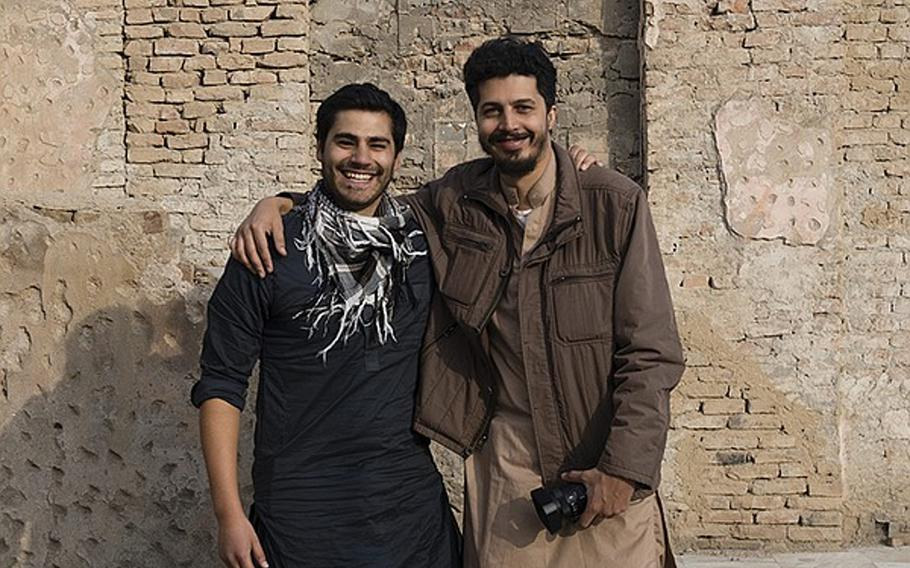 """In their documentary """"The Interpreters,"""" co-directors Andres Caballero, left, and Sofian Khan, shown here in an undated photo,tell the stories of three interpreters who worked with U.S. troops in Iraq and Afghanistan, and then struggled to get the visas they thought they'd been promised that would allow them to move to safety in the U.S."""