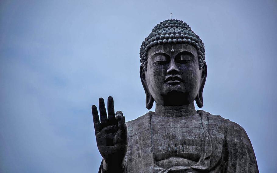 Ushiku Daibutsu in Tsukuba, Japan, is the world's third tallest bronze Buddha statue at nearly 400 feet tall.