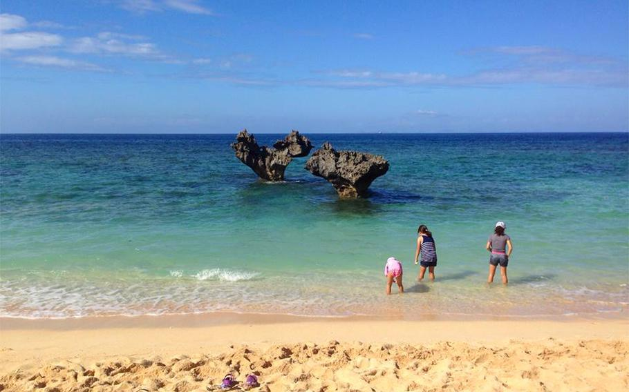 Heart rock is a popular spot for couples to visit on Kouri Island, Okinawa.
