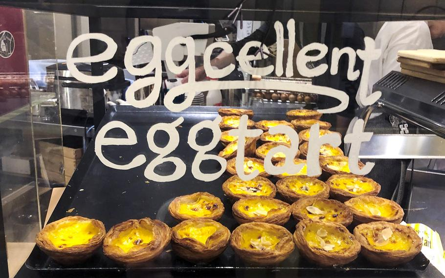 Eggcellent in Tokyo offers an array of breakfast dishes, mainly eggs done a variety of ways, such as egg tarts, eggs Benedict, eggs sunny-side up or avocado toast laid over a bed of scrambled eggs.