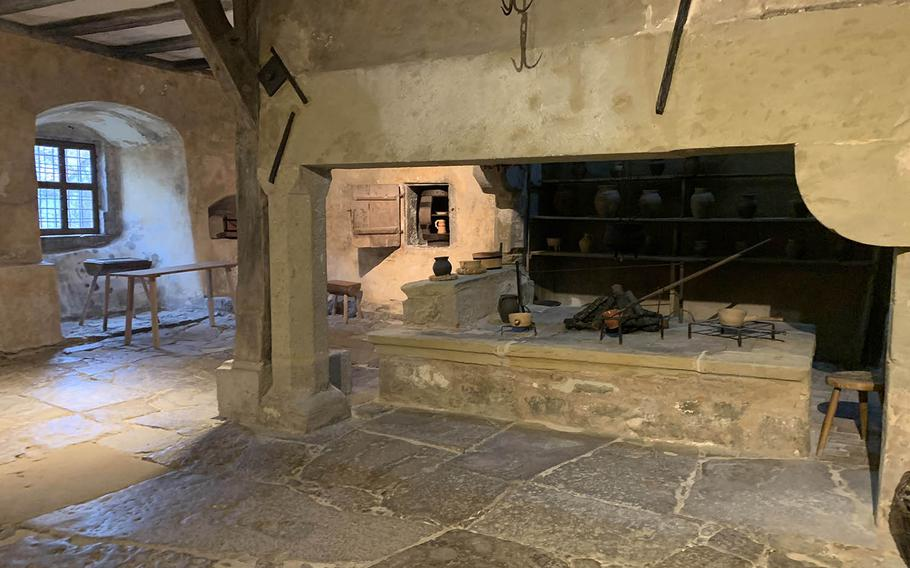 The Imperial City Museum in Rothenburg, Germany, houses Germany's oldest preserved monastery kitchen, shown, dating from the 13th century.