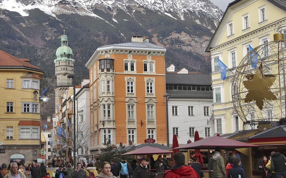 Some of Innsbruck's beautiful, colorful and detailed buildings are is said to date from the 1500s, when Maximilian I was the Holy Roman Emperor.