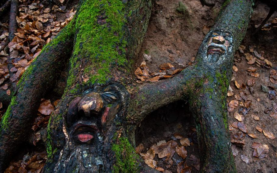 Steckeschlaafer gorge boasts more than 46 tree carvings, some harder to find than others.