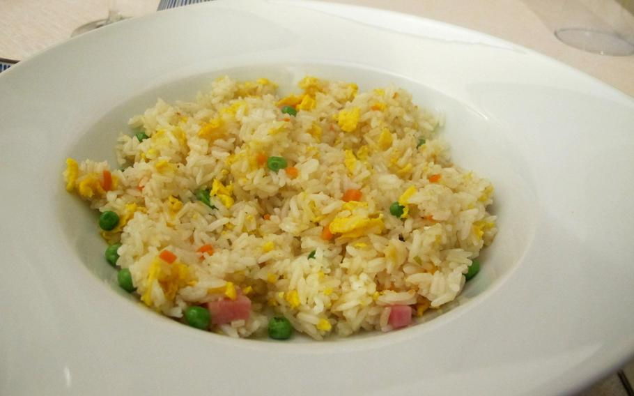 Fried rice at Vicenza's newest Chinese restaurant, Cicchetteria Cinese Zhu, makes a nice change of pace from pasta.
