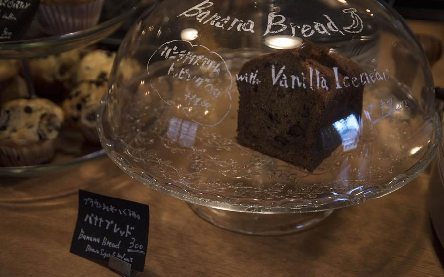 Cafe D-13 near Yokota Air Base, Japan, boasts a small menu of coffees and baked goods like chocolate chip cookies and banana bread.