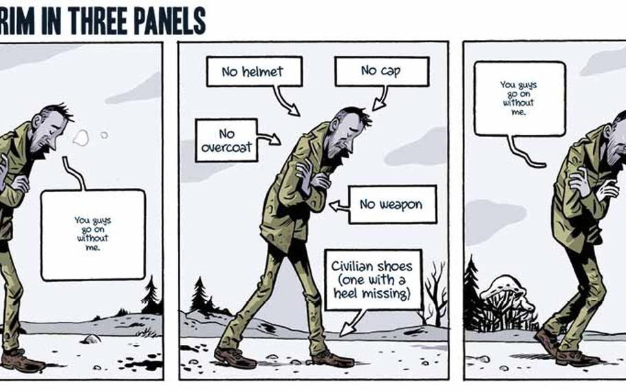 A preview panel from the graphic novel adaption of ''Slaughterhouse-Five'' by Kurt Vonnegut, which is scheduled to be released in September of 2020.