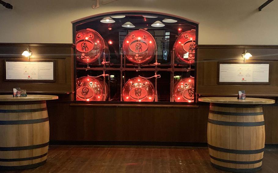 The entrance of the Pilsner Urquell brewery in Pilsen, Czech Republic. Pilsner beer has been brewed here since 1842.