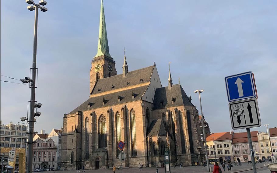 The cathedral of St. Bartholomew has the tallest church spire in the Czech Republic.