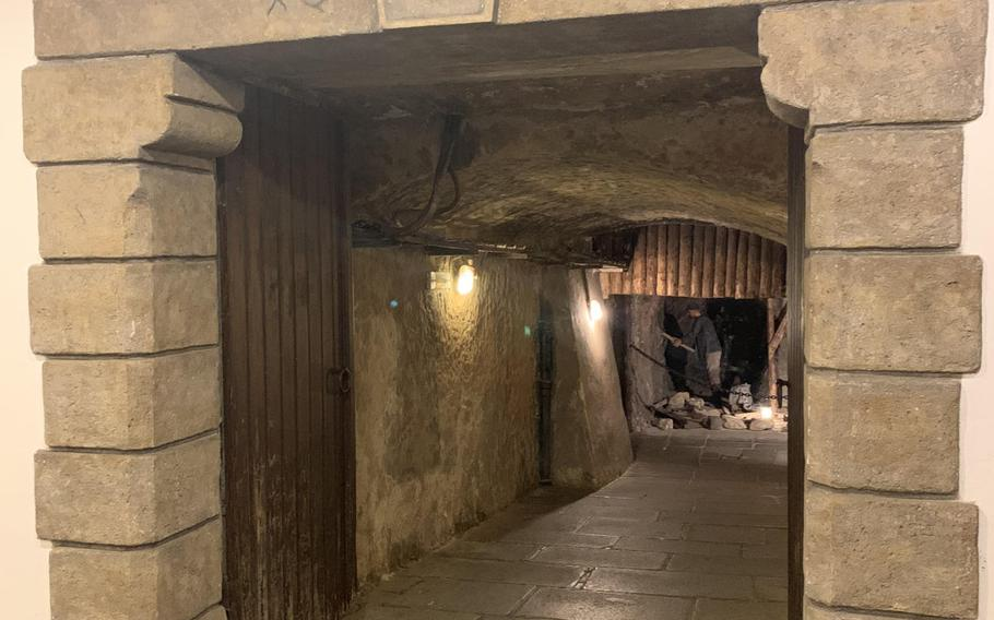 Inside the cellars at the Pilsner Urquell brewery in Pilsen, Czech Republic, where the brewery tour finishes, and where you can taste unfiltered pilsner beer.