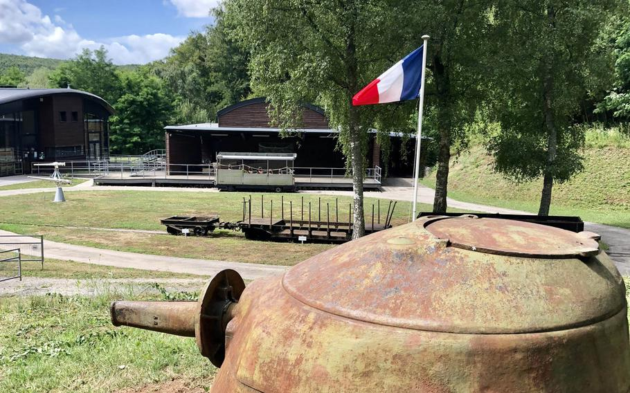 A view of the rail car that takes visitors into the Simserhof underground fortress on the Maginot Line close to Bitche. The fortress was renovated after WWII and served as a depot for the French army until the 1970s.