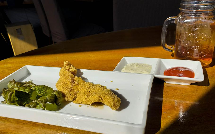 Fried catfish with creamy tartar sauce and Southern sweet tea can be found at Soul Food House in the Azabujuban section of central Tokyo.