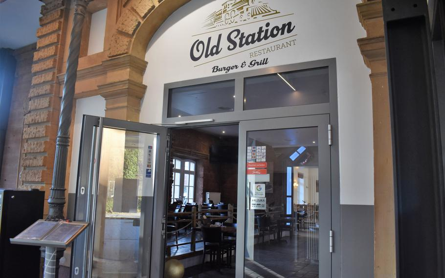 Old Station Restaurant shares a building with Pizzeria Milano in the hip Kammgarn area of Kaiserslautern, Germany.