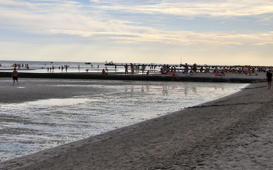 The main beach in Grado, Italy. Grado, which is between Venice and Trieste, is known as the island of the sun or the golden island.