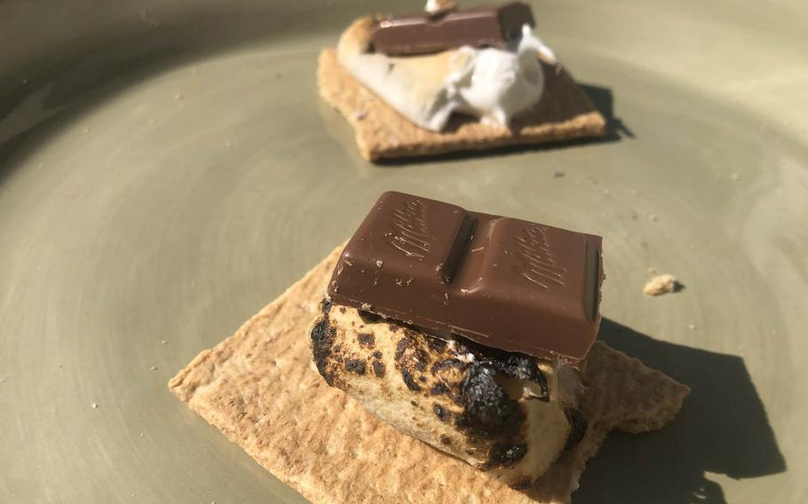 Milka bars perform about as well as the traditional Hershey's bars when combined in a s'more with marshmallows and graham crackers.