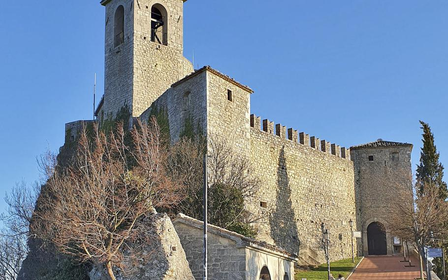 Guaita tower, also known as La Rocca, is one of three towers in the city of San Marino, capital of the country by the same name. Constructed between the 10th and 11th century, it was the first tower built in San Marino.