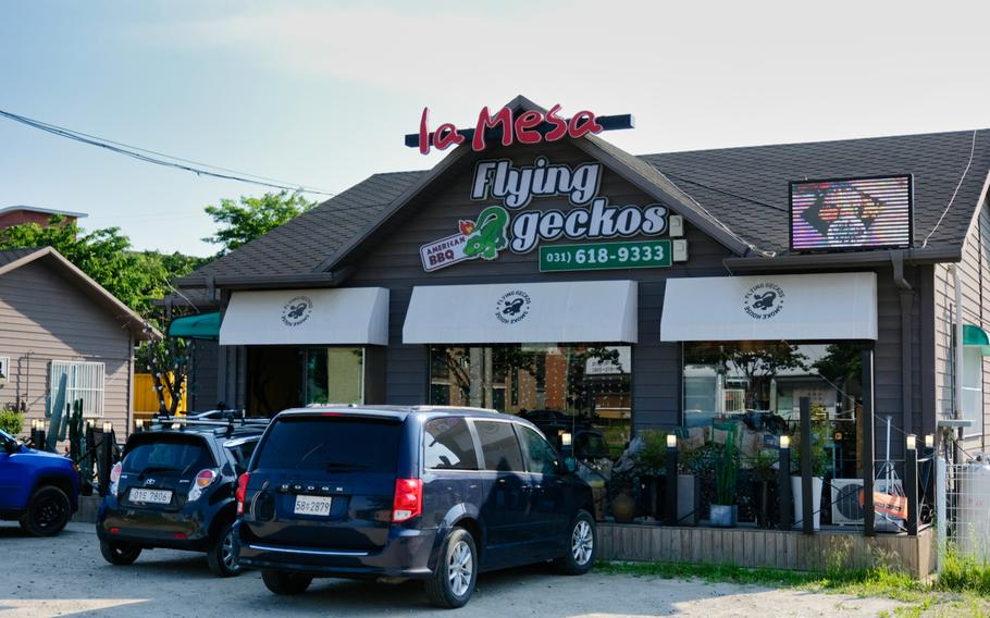 La Mesa Flying Geckos in Pyeongtaek, South Korea, is convenient to Camp Humphreys and offers plenty of parking.