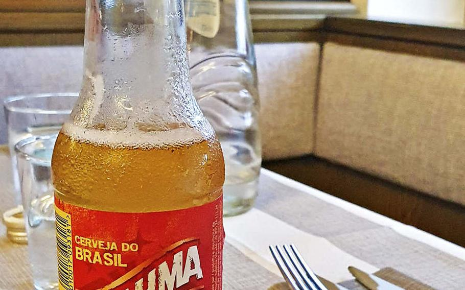Brahma beer is a Brazilian lager, imported to Italy and served at Boom Brasil, a new restaurant in Sacile, Italy. The restaurant is located about 11 miles from Aviano Air Base.