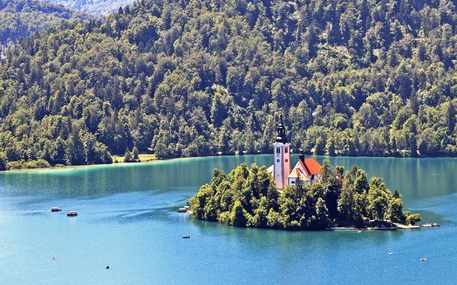 Bled Island, in Lake Bled, Slovenia, houses the Pilgrimage Church of the Assumption of Mary. Before the church was built on the island, a temple dedicated to the pagan goddess of life and fertility stood at the same place.