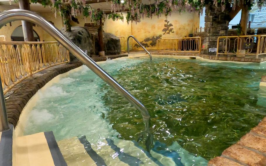 Patrons can relax and recover at an indoor spa at Caribbean Bay in Yongin, South Korea.