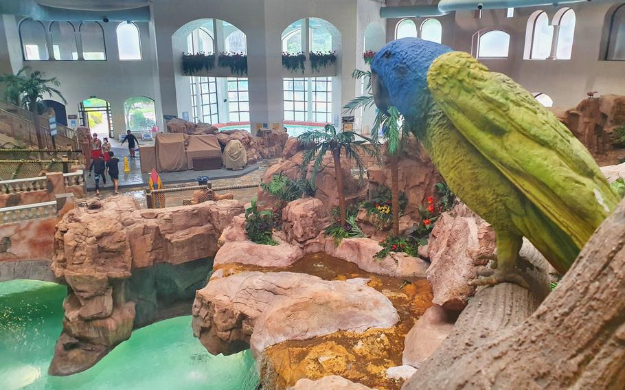 An indoor lazy river is among the many attractions at the Caribbean Bay water park in Yongin, South Korea.