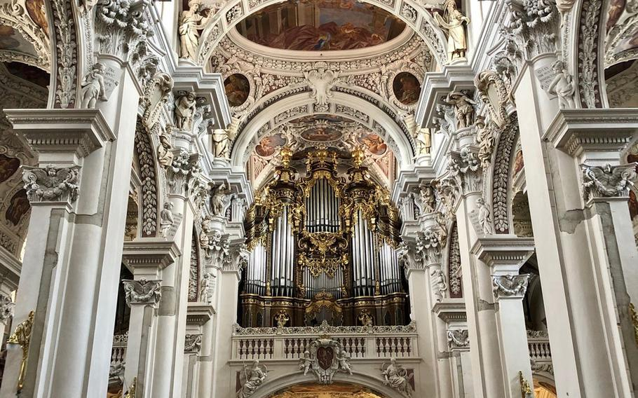 The organ at St. Stephen's Cathedral in Passau was once the largest church organ in Europe.