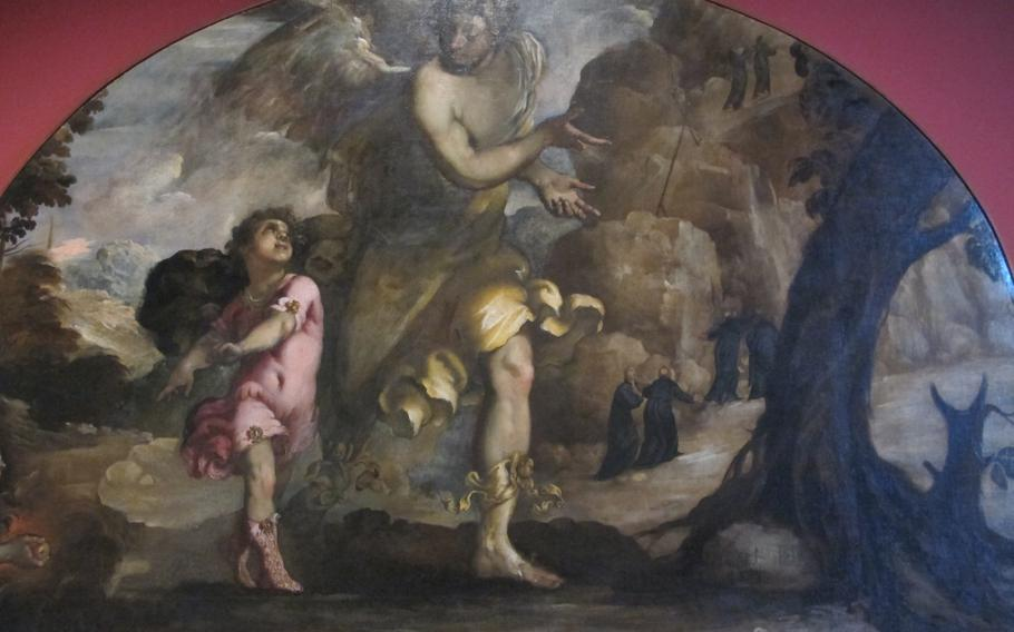 ''The Guardian Angel,'' a 1629 work by Francesco Maffei on display at the Palazzo Chiericati in Vicenza, Italy.