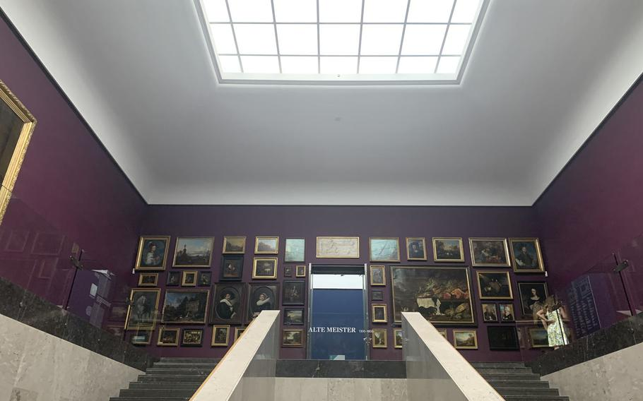 The inside of the Staedel Museum before entering the Alte Meister gallery in Frankfurt, Germany on August 2, 2020. The Staedel Museum is named after Frankfurt banker Johann Staedel, who included in his will a clause creating the art museum in 1815.