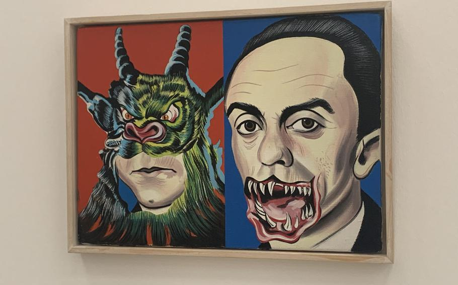This painting, known as Horde by Daniel Richter, represents a life full of hatred and aggression. The painting is hung at the Staedel Museum in Frankfurt, Germany.