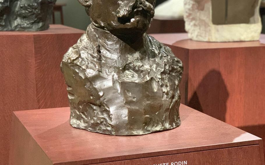 A sculpture of French sculptor Auguste Rodin, who is best known for The Thinker, is seen at the Staedel Museum in Frankfurt.