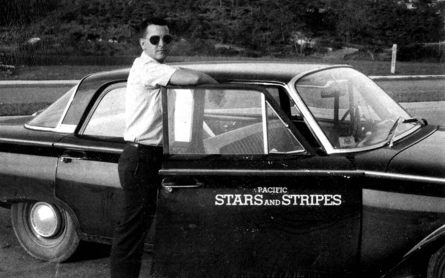 Former Stars and Stripes correspondent Steve Stibbens poses for a photo in Tokyo in 1962.