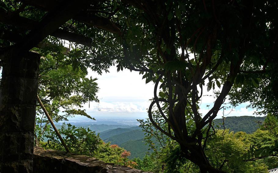 Canopied paths and lush green views await visitors atop Mount Mitake, Japan.