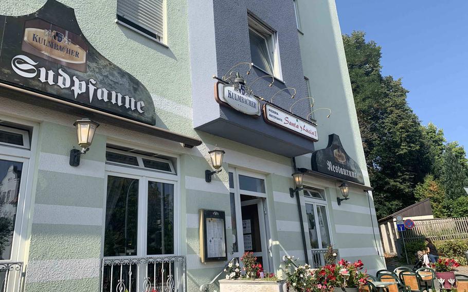 Pizzeria Santa Lucia II  in Grafenwoehr, Germany on Sept. 22, 2020.